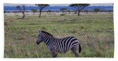 The Lonely Zebra Bath Towel
