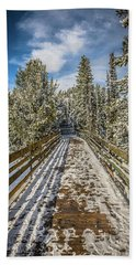 The Long Walkway Hand Towel by Bill Howard