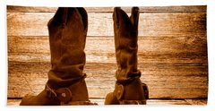 The Lost Boots - Sepia Hand Towel