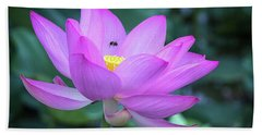 The Lotus And The Bee Hand Towel
