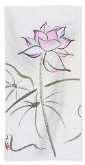The Lotus Rises Out Of Muddy Waters Untainted Hand Towel by Oiyee At Oystudio