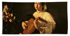 The Lute Player Hand Towel