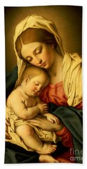 The Madonna And Child Bath Towel