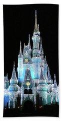 The Magic Kingdom Castle In Frosty Light Blue Walt Disney World Mp Bath Towel