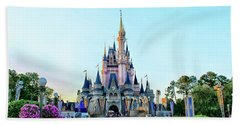 The Magic Kingdom Castle On A Beautiful Summer Day Horizontal Mp Bath Towel
