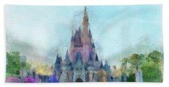The Magic Kingdom Castle Wdw 05 Photo Art Mp Bath Towel