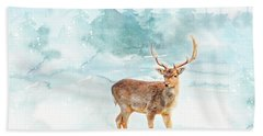 Hand Towel featuring the painting The Magic Of Winter  by Colleen Taylor