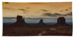 The Magical Beauty Of Monument Valley  Bath Towel