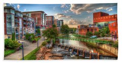 The Main Attraction Reedy River Greenville South Carolina Art Bath Towel