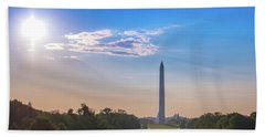 The Mall, Sky, Sun And Clouds Hand Towel