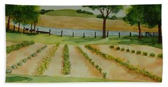 The Mangan Farm  Hand Towel by Vicki  Housel