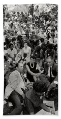The March On Washington   A Crowd Of Seated Marchers Bath Towel