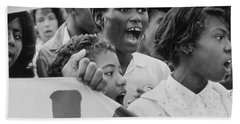 The March On Washington   A Group From Detroit Bath Towel