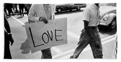 The March On Washington   Love Bath Towel