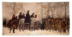 The March To Valley Forge Hand Towel