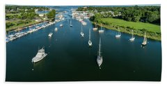 The Marina In Mamaroneck Hand Towel