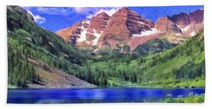 The Maroon Bells Hand Towel