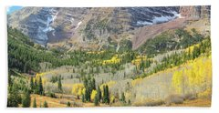 The Maroon Bells 2 Hand Towel by Eric Glaser