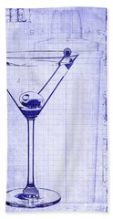 The Martini Blueprint Hand Towel by Jon Neidert
