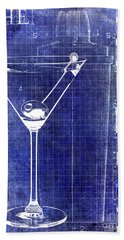 The Martini Patent Blue Hand Towel by Jon Neidert