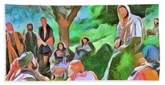 Bath Towel featuring the painting The Master Teacher by Wayne Pascall