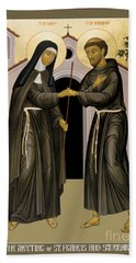 The Meeting Of Sts. Francis And Clare - Rlfac Bath Towel