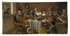 The Merry Family,1668 Hand Towel