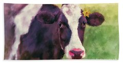 Bath Towel featuring the photograph The Milk Maid by Lois Bryan