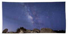 The Milky Way And A Meteor Bath Towel