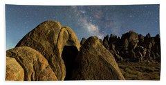 The Milky Way And Moonlight Bath Towel