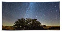 The Milky Way And The Andromeda Galaxy  Bath Towel