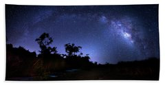The Milky Way Trail Hand Towel by Mark Andrew Thomas