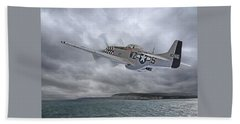 The Mission - P51 Over Dover Hand Towel