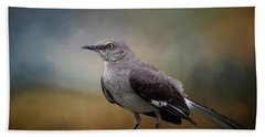 Bath Towel featuring the photograph The Mockingbird A Bird Of Many Songs by David and Carol Kelly