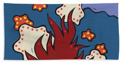 Bath Towel featuring the painting The Moon And The Stars Below by SpiritPainter
