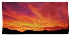 The Morning Sky Ablaze Hand Towel