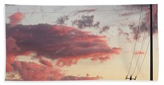 The Most #amazing #sunset Over #austin Hand Towel