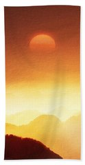 The Mountains  Bath Towel by Gabriella Weninger - David
