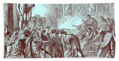 The Murder Of Julius Caesar Hand Towel