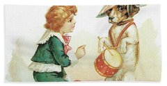 The Musical Pooch Bath Towel by Reynold Jay