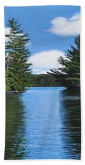 The Narrows Of Muskoka Hand Towel by Kenneth M  Kirsch