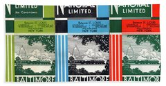 The National Limited Collage Bath Towel
