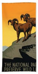 The National Parks Poster Bath Towel