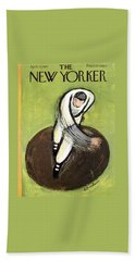 The New Yorker Cover - April 13th, 1957 Hand Towel