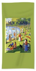 The New Yorker Cover - July 15th, 1991 Hand Towel