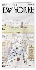 Manhattan Skyline Bath Sheets
