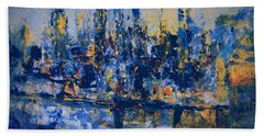 The Night City Bath Towel by Nancy Kane Chapman