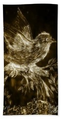 The Night Sparrow Hand Towel by Maria Urso