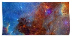 Bath Towel featuring the photograph The North America Nebula In Different Lights by NASA JPL - Caltech
