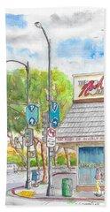 The Nosh Of Beverly Hills, Little Santa Monica And Roxbury, Beverly Hills, California Hand Towel